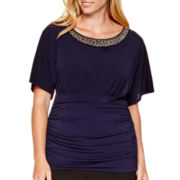Alyx® Tummy Tuck Top with Necklace Trim - Plus