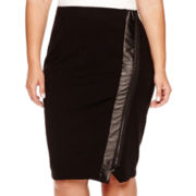 Bisou Bisou® Zip-Front Pencil Skirt - Plus