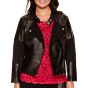 Bisou Bisou® Zip Moto Jacket - Plus