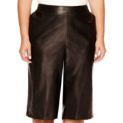 Bisou Bisou® Faux-Leather Culotte - Plus