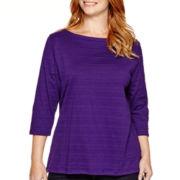 St. John's Bay® 3/4-Sleeve Tunic Top - Plus