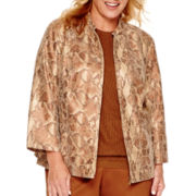 Alfred Dunner® Colorado Springs 3/4-Sleeve Python Print Jacket - Plus