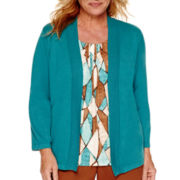 Alfred Dunner® Colorado Springs 3/4-Sleeve Diamond Layered Top - Plus