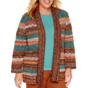 Alfred Dunner® Colorado Springs Long-Sleeve Spacedye Cardigan - Plus