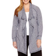 Silverwear® Long-Sleeve Flyaway Cardigan - Plus