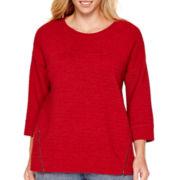 a.n.a® Textured Zipper Sweatshirts