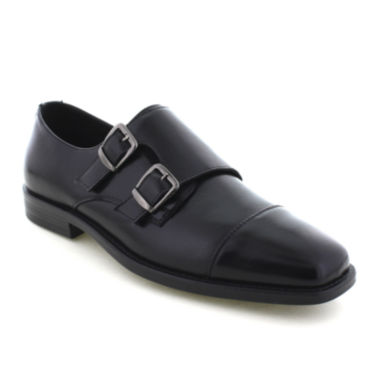 jcpenney.com | Deer Stags® Colin Cap-Toe Mens Twin-Buckle Leather Shoes