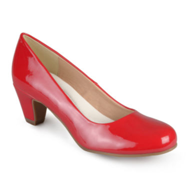 jcpenney.com | Journee Collection Luu Round Toe Patent Pumps