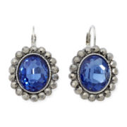 Monet® Blue and Gray Crystal Drop Earrings