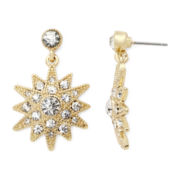 Monet® Crystal Gold-Tone Starburst Earrings