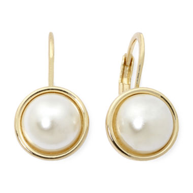 jcpenney.com | Monet® Simulated Pearl Drop Earrings
