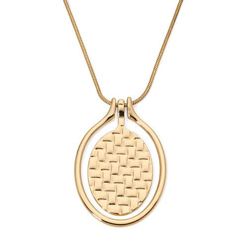 Liz Claiborne® Gold-Tone Orbital Pendant Necklace