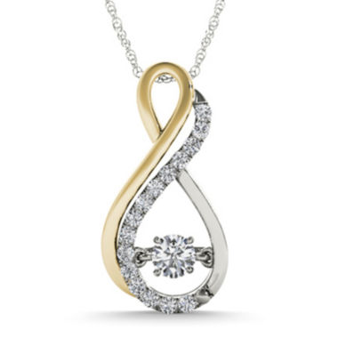 jcpenney.com | Love in Motion™ 1/7 CT. T.W. Diamond 10K Two-Tone Gold Infinity Pendant Necklace