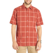 Van Heusen® Short-Sleeve Pucker Woven Shirt