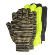 QuietWear® 3-pk. Non-Slip Gloves