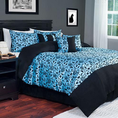 Cambridge Home Victoria 7-pc. Damask Comforter Set