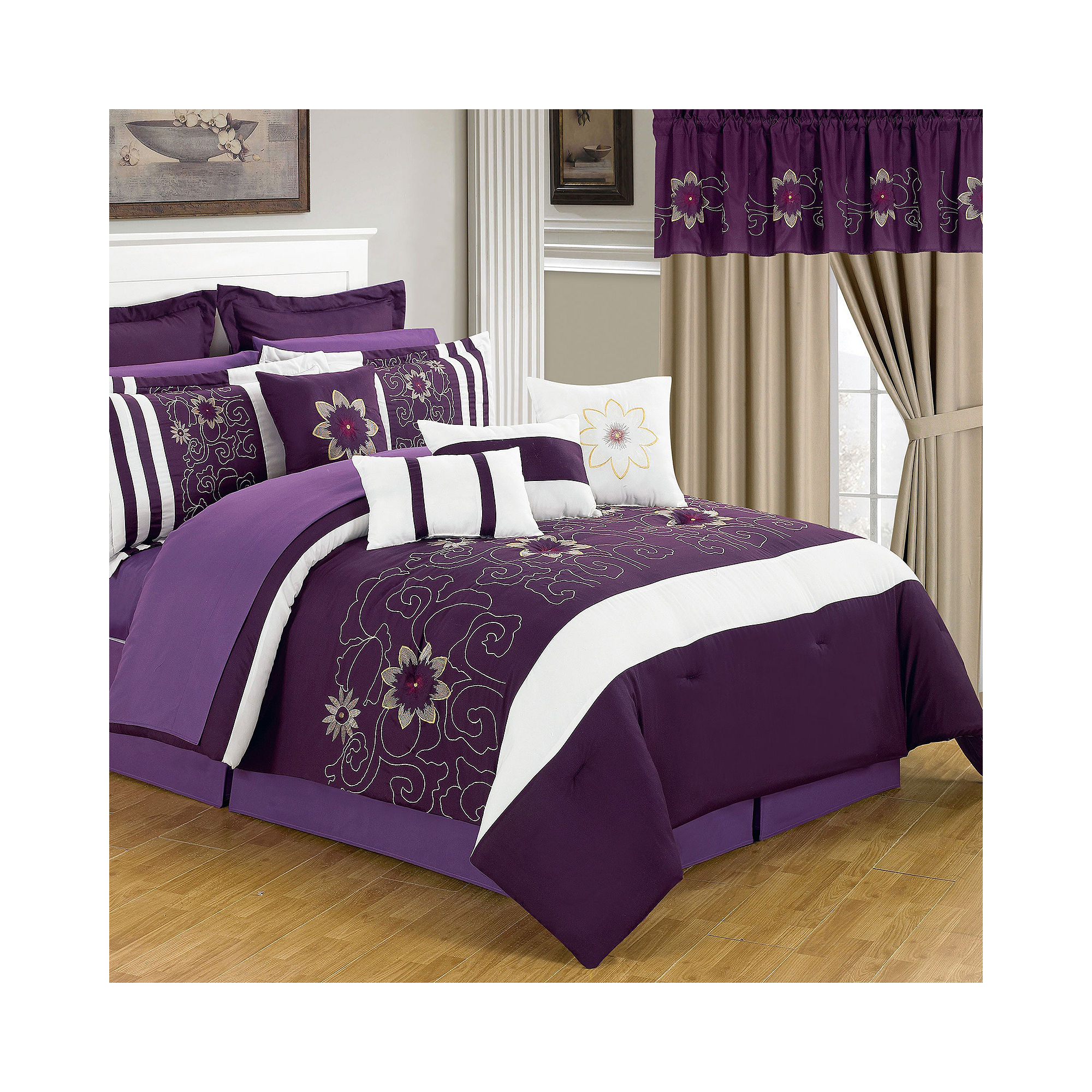Complete Bedroom Bedding Sets With Curtains Bedroom Sets Including Curtains Black Cream
