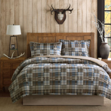 jcpenney.com | Woolrich White River Softspun Down-Alternative Plaid Comforter Set