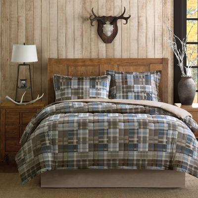 woolrich white river softspun plaid comforter set