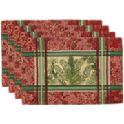 Park B. Smith® Plaid Pinecone Set of 4 Placemats