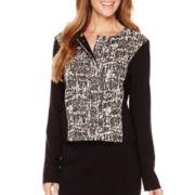Liz Claiborne® Textured Ponte Jacket