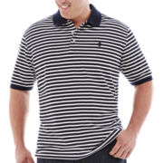 IZOD® Short-Sleeve Striped Piqué Polo - Big & Tall