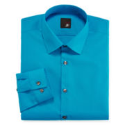 JF J. Ferrar® Slim-Fit Solid Dress Shirt