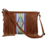 T-Shirt & Jeans™ Panel Fringe Crossbody Bag