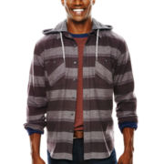 Arizona Hooded Flannel Button-Front Shirt