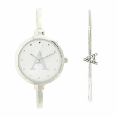 jcpenney.com | Fashion Watches Womens All Silver-Tone Bangle Watch