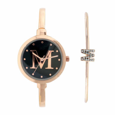 jcpenney.com | Fashion Watches Womens Rose-Tone Bangle Watch