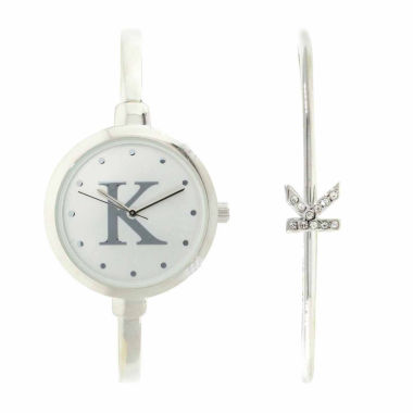jcpenney.com | Fashion Watches Womens All Silver-Tone Bangle Bracelet Watch