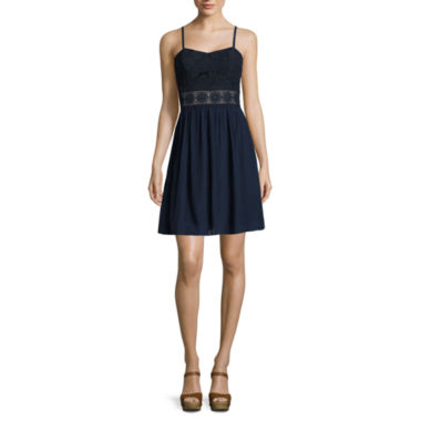 jcpenney.com | by&by Spaghetti-Strap Illusion-Waist Dress - Juniors