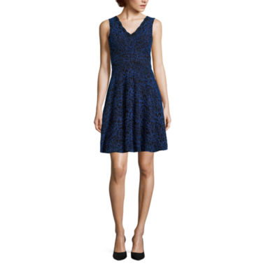 jcpenney.com | Reigns On Sleeveless Two-Tone Lace Skater Dress - Juniors