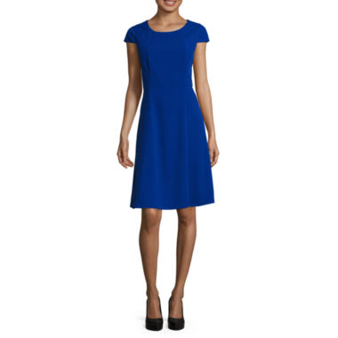 jcpenney.com | Alyx® Cap-Sleeve Vertical-Seam Fit-N-Flare Dress