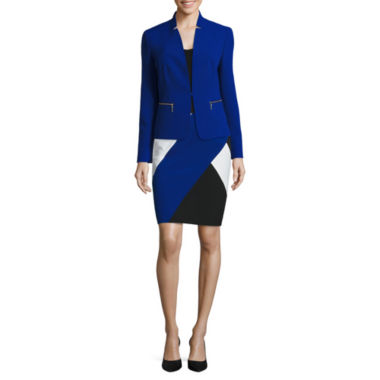 jcpenney.com | Black Label by Evan-Picone Stand Collar Jacket or Colorblock Skirt