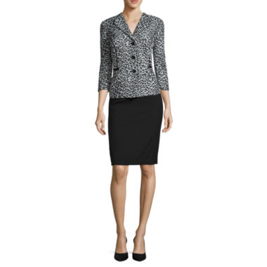 jcpenney.com | R&K Originals® 3/4-Sleeve Leopard-Print Jacket & Skirt Suit Set