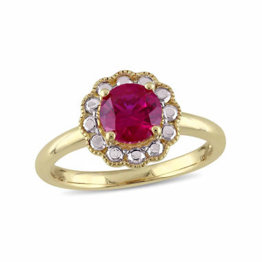 jcpenney.com | Womens Red Ruby 10K Gold Cocktail Ring