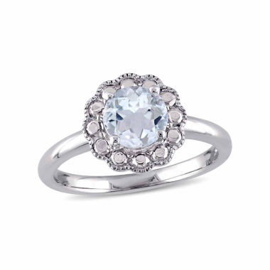 jcpenney.com | Womens Blue Aquamarine 10K Gold Cocktail Ring
