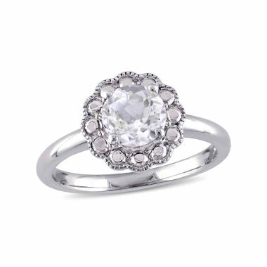 jcpenney.com | Womens White Topaz 10K Gold Cocktail Ring