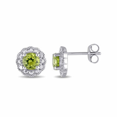 jcpenney.com | Round Green Peridot 10K Gold Stud Earrings
