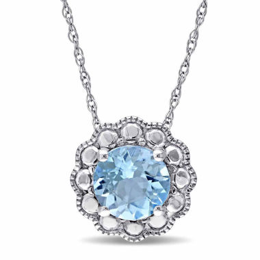 jcpenney.com | Womens 17 Inch Blue Topaz 10K Gold Link Necklace