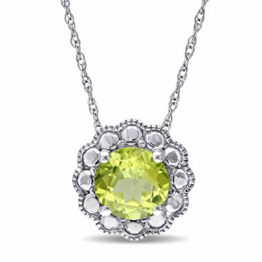 jcpenney.com | Womens 17 Inch Green Peridot 10K Gold Link Necklace