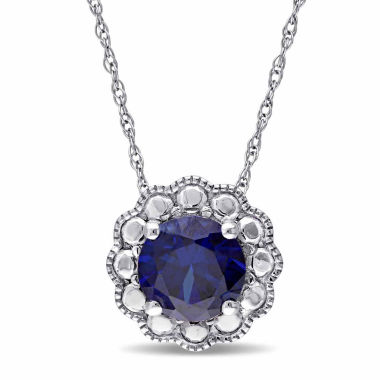 jcpenney.com | Womens 17 Inch Blue Sapphire 10K Gold Link Necklace