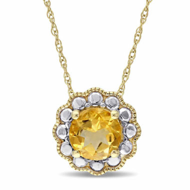jcpenney.com | Womens 17 Inch Yellow Citrine 10K Gold Link Necklace