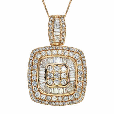 jcpenney.com | 2 CT. T.W. Certified Diamond 14K Yellow Gold Pendant Necklace