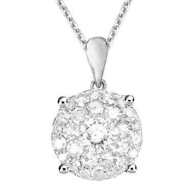 jcpenney.com | Womens 1/2 CT. T.W. White Diamond 14K Gold Pendant Necklace