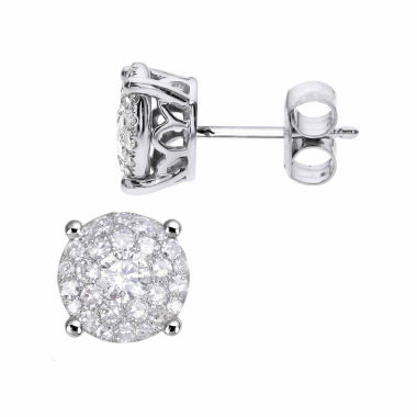 jcpenney.com | 1 1/2 CT. T.W. Round White Diamond 14K Gold Stud Earrings