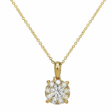 jcpenney.com | Womens 1/3 CT. T.W. White Diamond 14K Gold Pendant Necklace