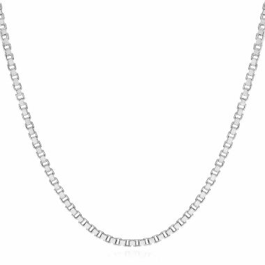 "jcpenney.com | 14K White Gold 1.4mm Venetian 22"" Box Chain Necklace"